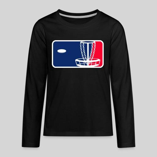Major League Frisbeegolf - Teinien premium pitkähihainen t-paita