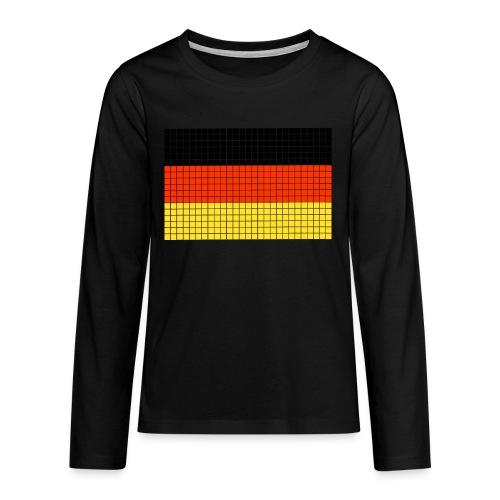 german flag.png - Maglietta Premium a manica lunga per teenager