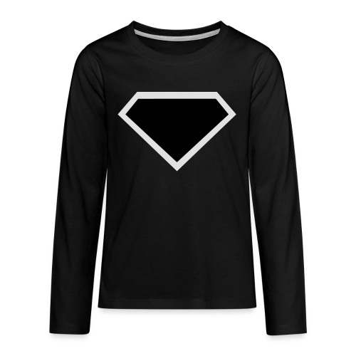 Diamond Black - Two colors customizable - Teenager Premium shirt met lange mouwen