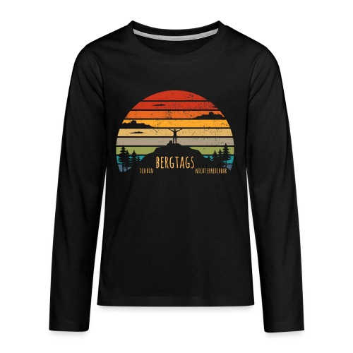 lustige Wanderer Sprüche Shirt Geschenk Retro - Teenager Premium Langarmshirt