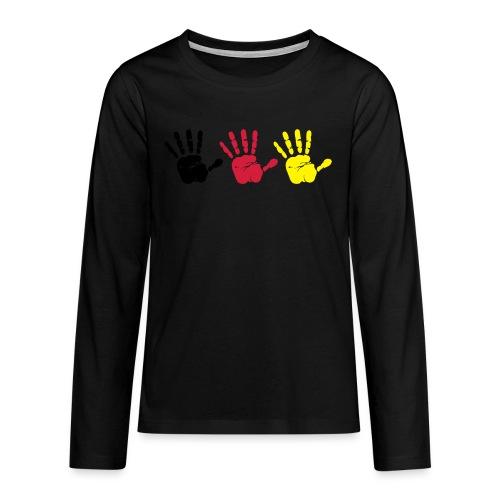Handabdruck Trio - Teenager Premium Langarmshirt