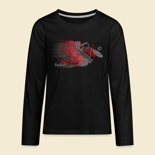 Radball   Earthquake Red - Teenager Premium Langarmshirt