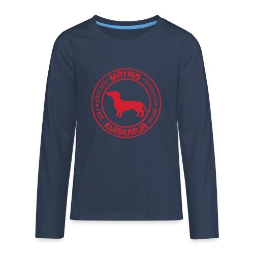 Mäyriskuiskaaja RED II - Teinien premium pitkähihainen t-paita