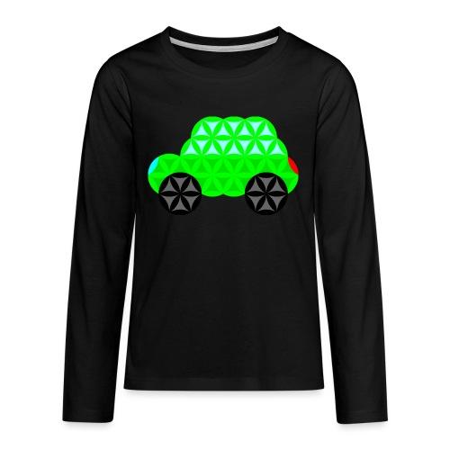 The Car Of Life - M01, Sacred Shapes, Green/R01. - Teenagers' Premium Longsleeve Shirt