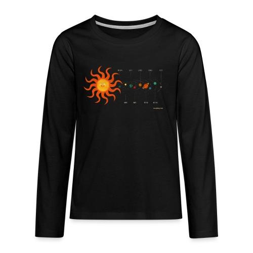Solar System - Teenagers' Premium Longsleeve Shirt