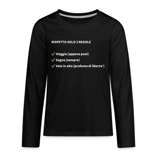Stile di vita - Maglietta Premium a manica lunga per teenager