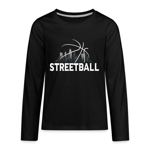 Streetball Skyline - Street basketball - Teenagers' Premium Longsleeve Shirt