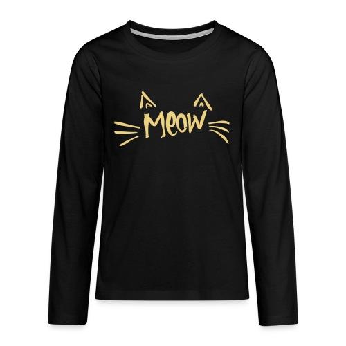 Vorschau: meow2 - Teenager Premium Langarmshirt