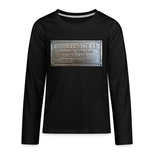 Tillverkningsskylt före 1967 - Långärmad premium T-shirt tonåring