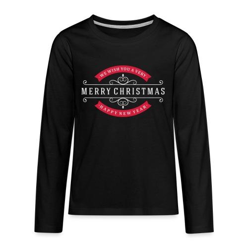 We whish you 1 - T-shirt manches longues Premium Ado