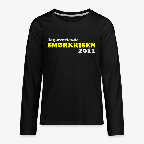 Smørkrise 2011 - Norsk - Premium langermet T-skjorte for tenåringer