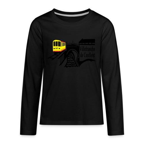 train jaune villefranche de conflent - Teenager Premium Langarmshirt