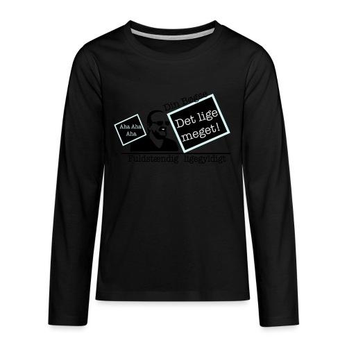 jeppe k epic wall of fame - Teenager premium T-shirt med lange ærmer