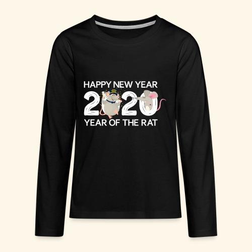 Happy New Year 2020 Gutes Neues Jahr der Ratte - Teenager Premium Langarmshirt