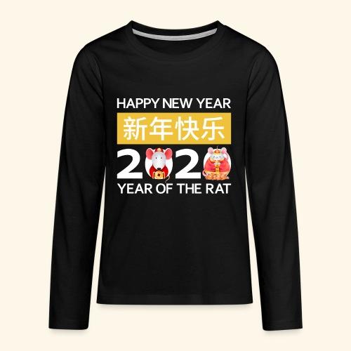 Happy New Year 2020 China Neujahr Horoskop Ratte - Teenager Premium Langarmshirt