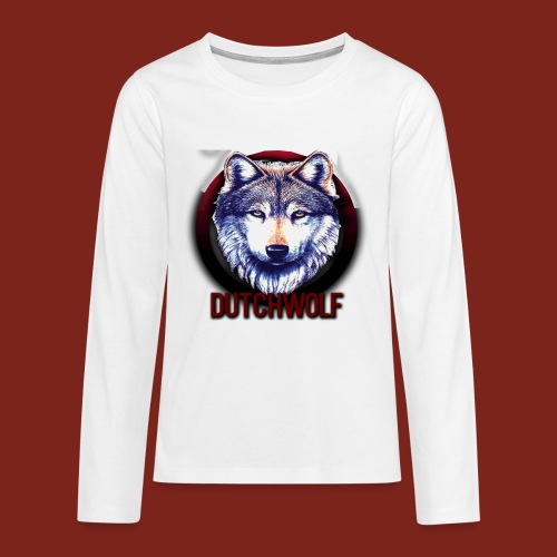 DutchWolf Logo - Teenager Premium shirt met lange mouwen