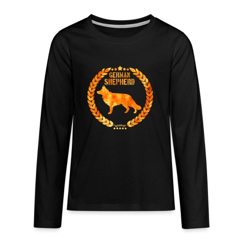 GSD Copper Army - Teinien premium pitkähihainen t-paita