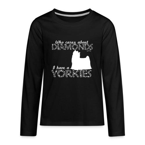 yorkiediamonds2 - Teinien premium pitkähihainen t-paita