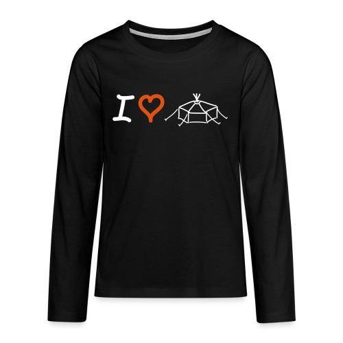 I love Jurte - Teenager Premium Langarmshirt