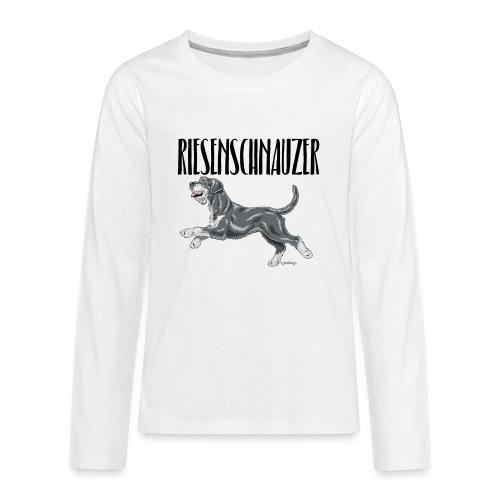 Riesenschnauzer 01 - Teenagers' Premium Longsleeve Shirt