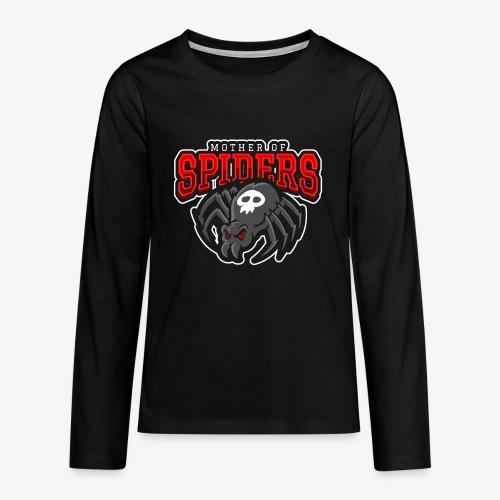 Mother of Spiders - Teinien premium pitkähihainen t-paita