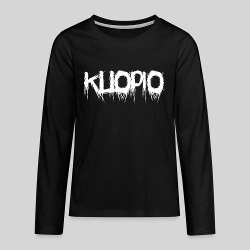 Kuopio - Teinien premium pitkähihainen t-paita