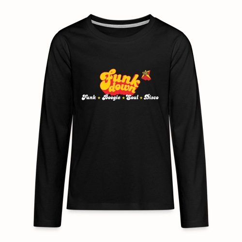 FunkDown Official Merchandise (med genrer) - Teenager premium T-shirt med lange ærmer
