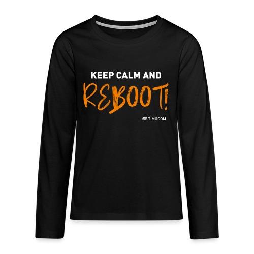 Reboot - Teenager premium T-shirt med lange ærmer