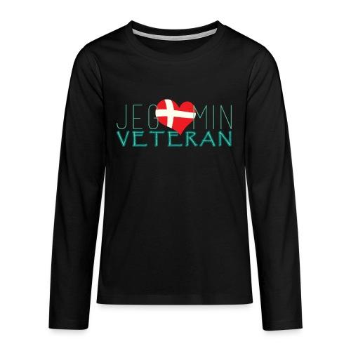 Jeg Elsker Min Veteran - Teenager premium T-shirt med lange ærmer