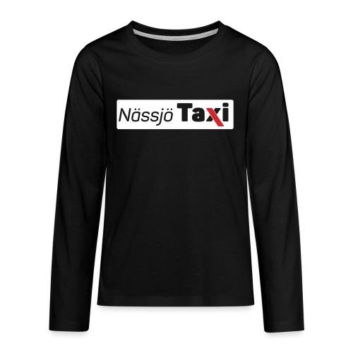 Nässjö taxi tryck - Långärmad premium T-shirt tonåring