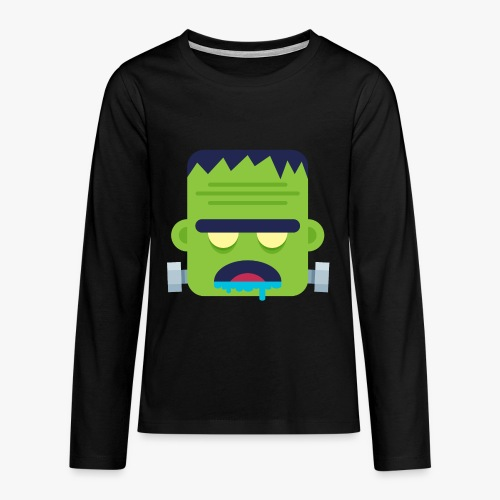 Monsters Frankie - Teenager premium T-shirt med lange ærmer