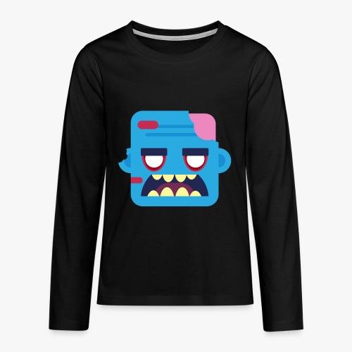 Mini Monsters - Zombob - Teenager premium T-shirt med lange ærmer