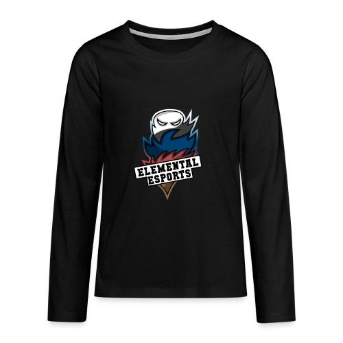 Elemental eSports | 2018 Logo - Teenager premium T-shirt med lange ærmer