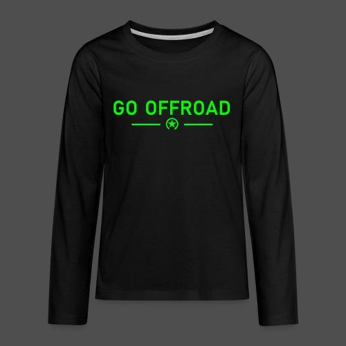 go offroad - Koszulka Premium z długim rękawem dla nastolatków