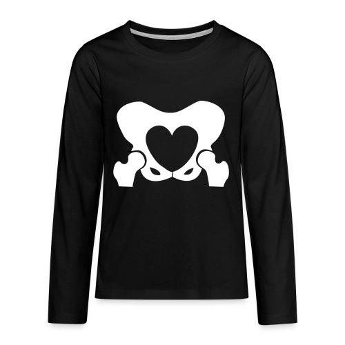 Love Your Hips Logo - Teenagers' Premium Longsleeve Shirt