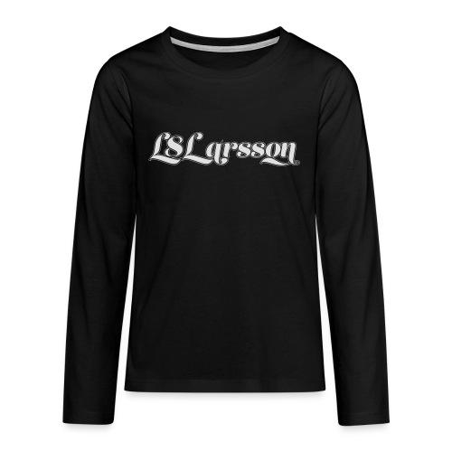 L8Larsson-logo - Långärmad premium T-shirt tonåring