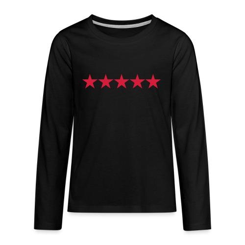 Rating stars - Teinien premium pitkähihainen t-paita