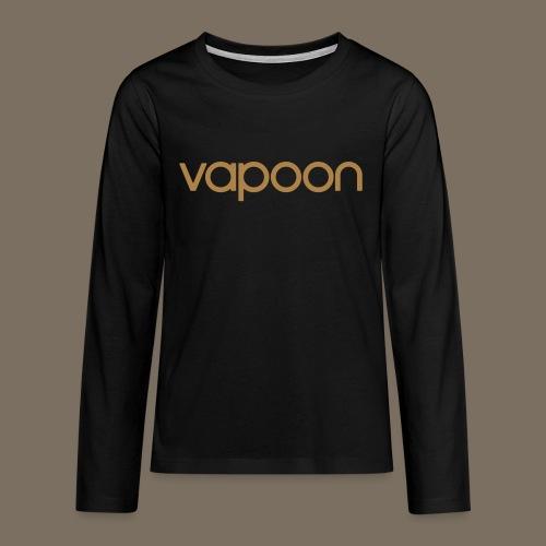 Vapoon Logo simpel 01 - Teenager Premium Langarmshirt