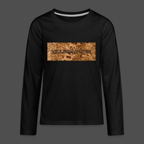 KILLSCHALTER Track - Koszulka Premium z długim rękawem dla nastolatków