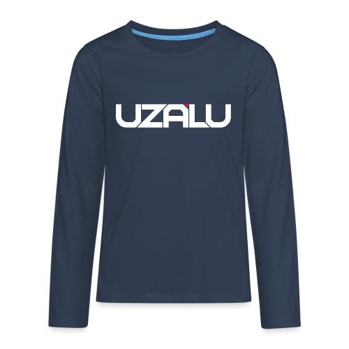 uzalu Text Logo - Teenagers' Premium Longsleeve Shirt