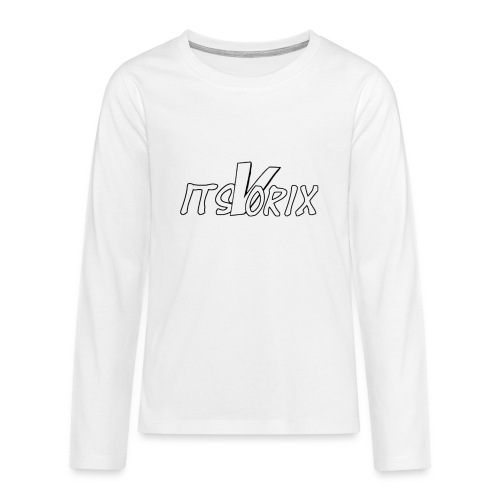 logo text large png - Teenagers' Premium Longsleeve Shirt