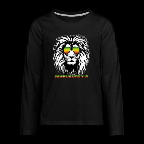 RASTA REGGAE LION - Teenager Premium Langarmshirt