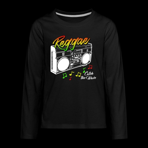 Reggae - Catch the Wave - Teenager Premium Langarmshirt