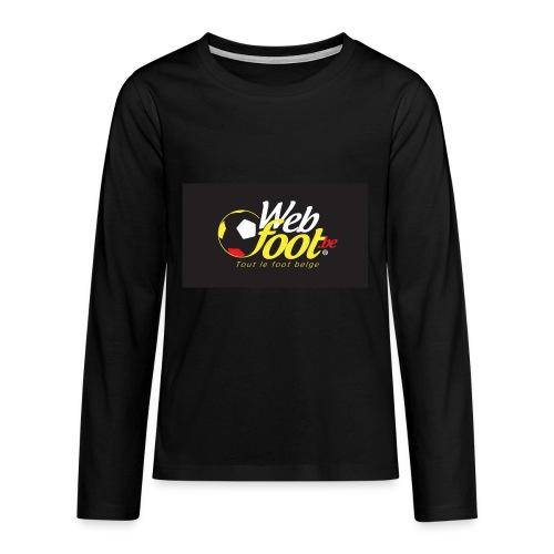 webfoot.be - T-shirt manches longues Premium Ado