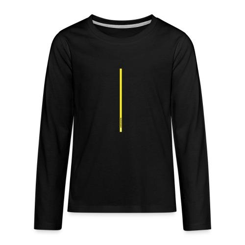 Spreadshirt grafica young inserto basso fondo nero - Maglietta Premium a manica lunga per teenager