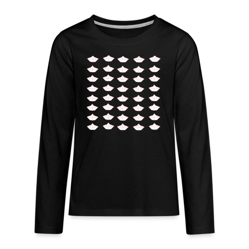 Origami boat - T-shirt manches longues Premium Ado