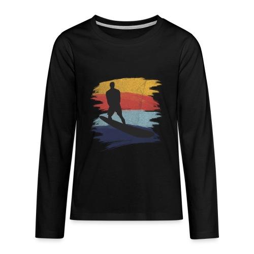 Wellenreiten Retro-Stil, Vintage - Teenager Premium Langarmshirt