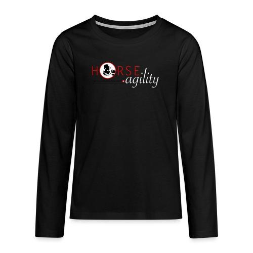 Interessengemeinschaft Horse Agility - Teenager Premium Langarmshirt