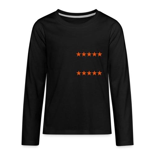 ratingstars - Teinien premium pitkähihainen t-paita
