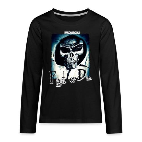 Tête de mort FrOnsoNe 001 - T-shirt manches longues Premium Ado